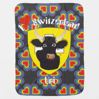 Uri Switzerland Suisse Svizzera Svizra baby cover Receiving Blanket