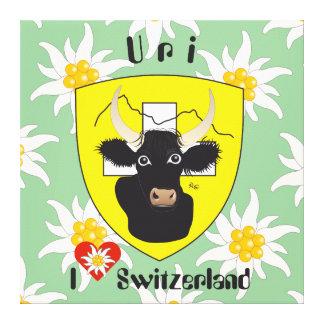 Uri Switzerland Suisse Svizzera Svizra canvas