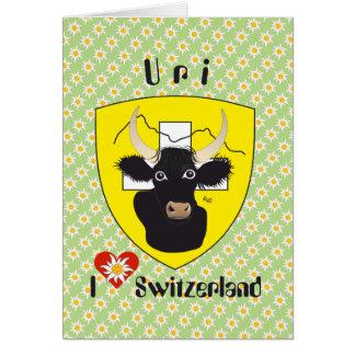 Uri Switzerland Suisse Svizzera Svizra greeting Card