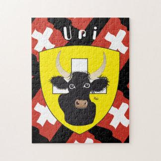 Uri Switzerland Suisse Svizzera Svizra puzzle