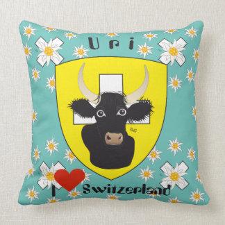 Uri Switzerland Suisse Svizzera Svizra Switzerland Throw Pillow