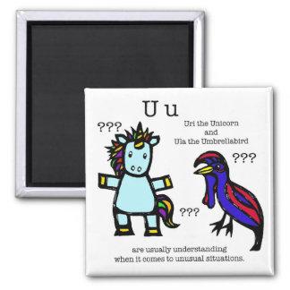 Uri & Ula 2 Inch Square Magnet