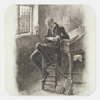 Uriah Heep, de 'Charles Dickens: Un chisme Pegatina Cuadradas Personalizada