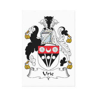 Urie Family Crest Stretched Canvas Prints