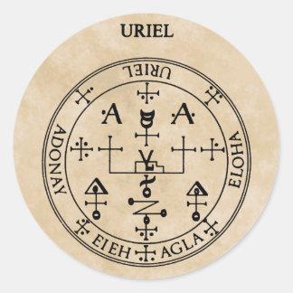 URIEL CLASSIC ROUND STICKER