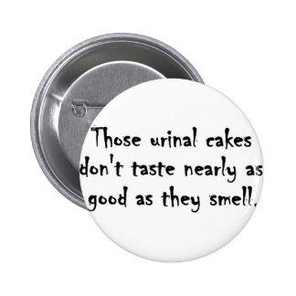 Urinal cakes pin
