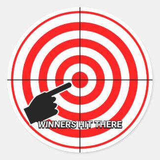 Urinal Target Practice Classic Round Sticker