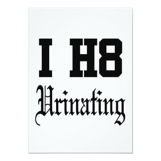 urinating card