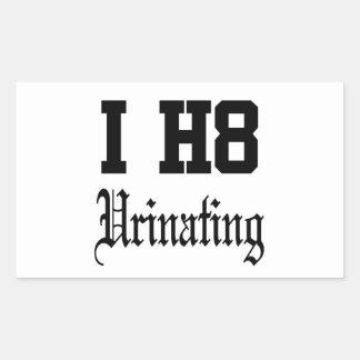urinating rectangular sticker