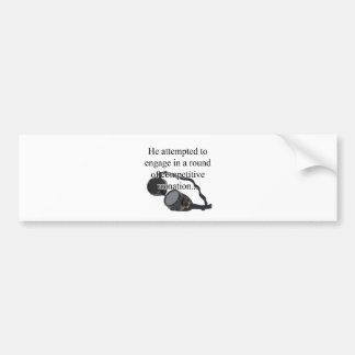 Urination Bumper Sticker