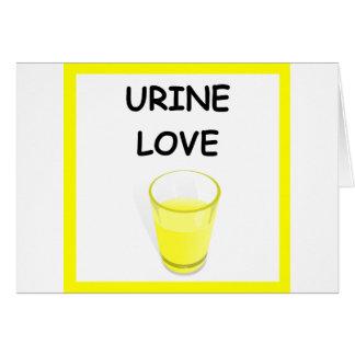 URINE LOVE GREETING CARD