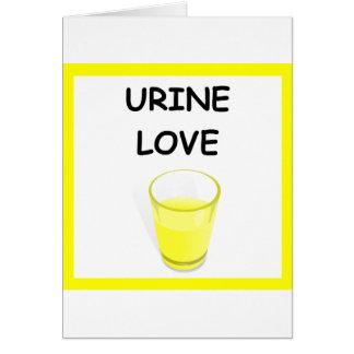 URINE LOVE CARDS