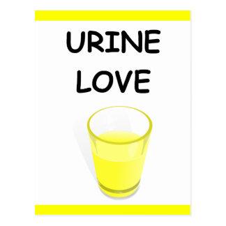 URINE LOVE POSTCARD