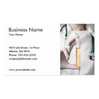Urine Sample Business Card Template