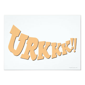 "¡URKKK!! INVITACIÓN 5"" X 7"""