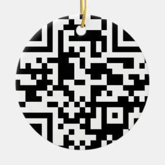 url Barcode Ceramic Ornament