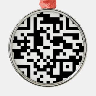 url Barcode Metal Ornament