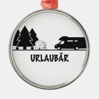 Urlaubär Metal Ornament