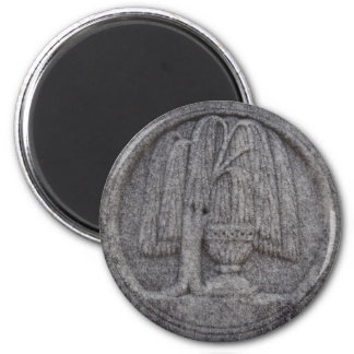 Urn and Willow Cemetery Engraving 2 Inch Round Magnet