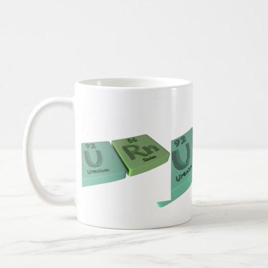 Urn as U Uranium and Rn Radon Coffee Mug