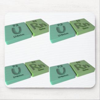Urn as U Uranium and Rn Radon Mouse Pad