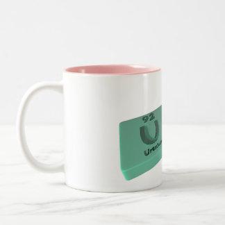 Urn as U Uranium and Rn Radon Two-Tone Coffee Mug