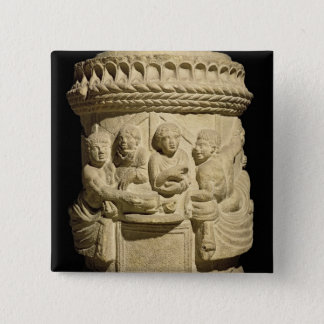 Urn depicting a family meal, from Aquileia Button