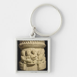 Urn depicting a family meal, from Aquileia Keychain