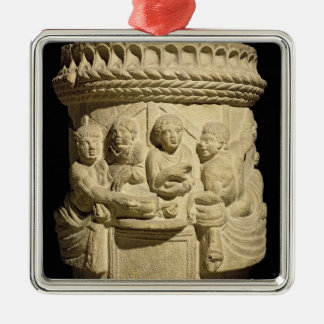 Urn depicting a family meal, from Aquileia Metal Ornament