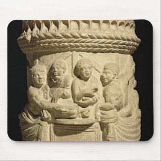 Urn depicting a family meal, from Aquileia Mouse Pad