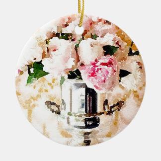 Urn of Roses Ceramic Ornament