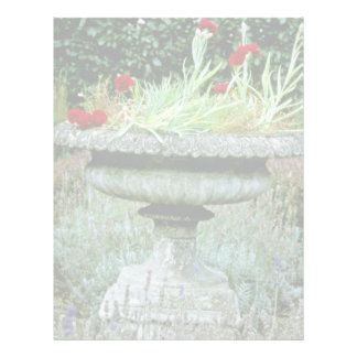 Urn Planted With Carnation flowers Letterhead