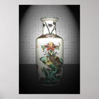 Urna china antigua 19 x poster 13