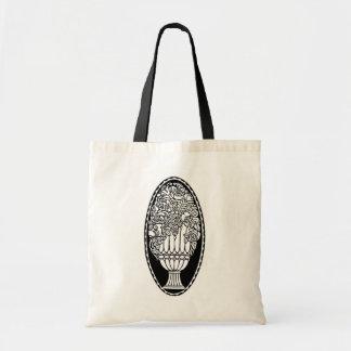 Urna con color de encargo blanco negro floral de l bolsas