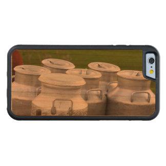Urnas de la leche funda de iPhone 6 bumper cerezo