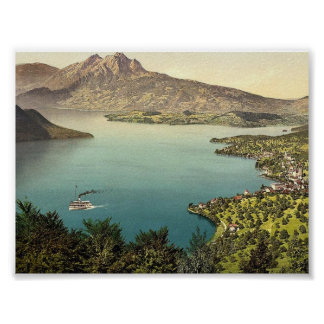 Urnersee and Pilatus, Lake Lucerne, Switzerland cl Poster