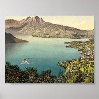 Urnersee y Pilatus lago cl de Alfalfa Suiza Impresiones