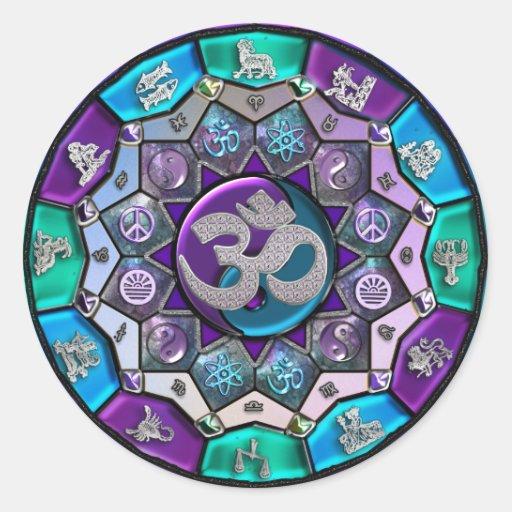 UROCK  Independence Mandala ~ BTC Sticker