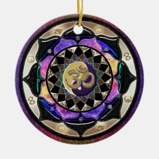 ¡UROCK! Ornamento de la mandala de la sorpresa Adorno Redondo De Cerámica
