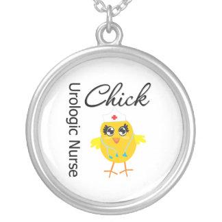 Urologic Nurse Chick v1 Round Pendant Necklace