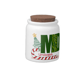 Urologist MERRY CHRISTMAS DOCTOR PHYSICIAN Candy Jar