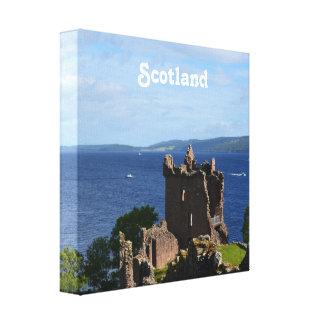 Urquhart Castle Stretched Canvas Print