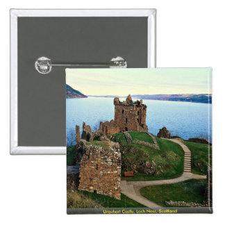 Urquhart Castle, Loch Ness, Scotland Button