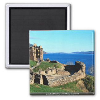 Urquhart Castle, Loch Ness, Scotland 2 Inch Square Magnet