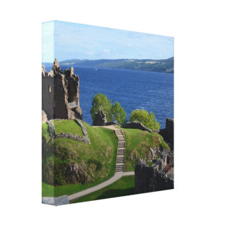 Urquhart Castle Ruins Gallery Wrapped Canvas
