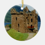 Urquhart Castle - Scottish castles collection Double-Sided Ceramic Round Christmas Ornament