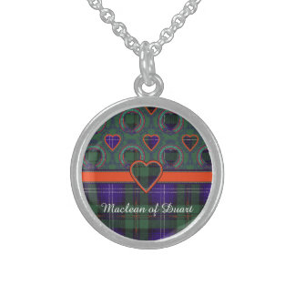 Urquhart clan Plaid Scottish tartan Sterling Silver Necklace