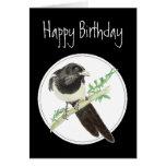 Urraca del cumpleaños, colección del pájaro de la  felicitacion