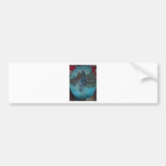 urraca del verano etiqueta de parachoque