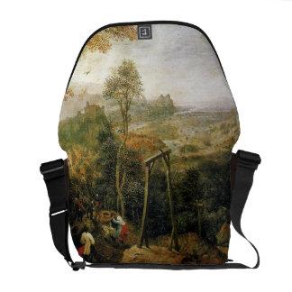 Urraca en la horca de Pieter Bruegel Bolsa De Mensajeria